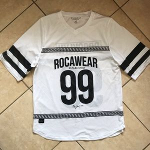 RocaWear White Jersey Short Sleeve Shirt